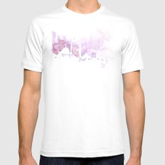 Watercolor landscape illustration_Istanbul MEDIUM Mens Fitted Tee White