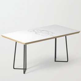 Lovers - Minimal Line Drawing Coffee Table