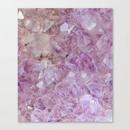 Pastel Violet Crystal Quartz Canvas Print