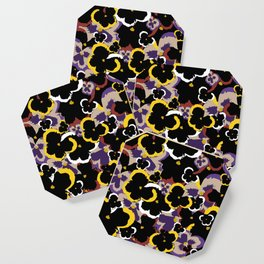 Pansy Love Coaster