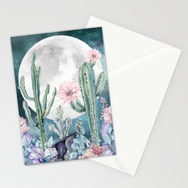 Desert Nights Gemstone Oasis Moon Stationery Cards