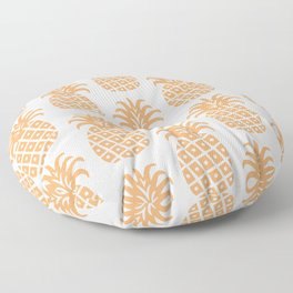 Retro Mid Century Modern Pineapple Pattern 731 Orange Floor Pillow