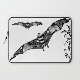 Tangled Bat on White Laptop Sleeve