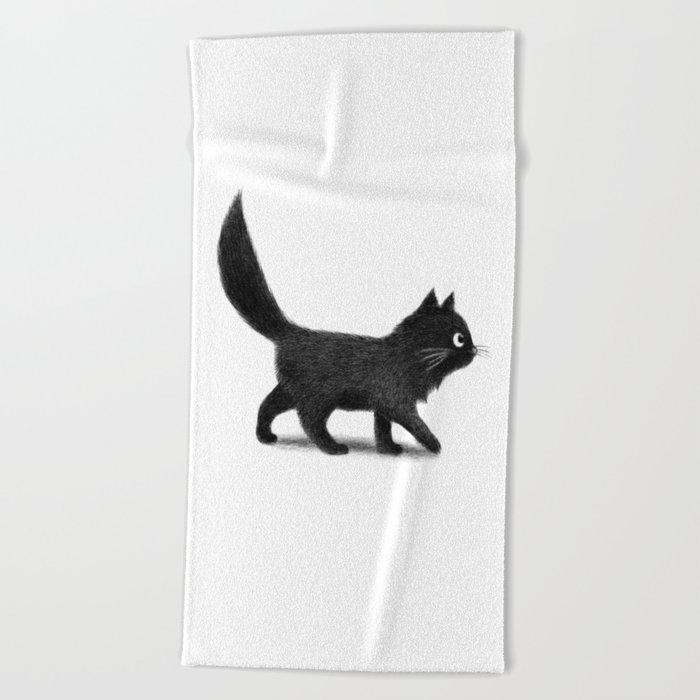 Creeping Cat Beach Towel