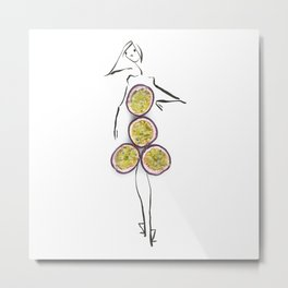 Edible Ensembles: Passionfruit Metal Print