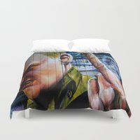 rebel Duvet Covers featuring Rebel by Global Graphiti