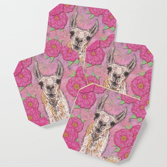 Perfectly Pink Llama Coaster