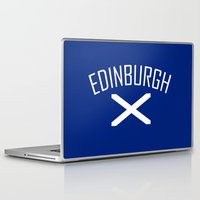 edinburgh Laptop & iPad Skins featuring Edinburgh by Earl of Grey