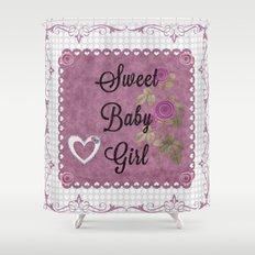 Sweet Baby Girl Shower Curtain