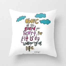 Guard Your Heart Throw Pillow