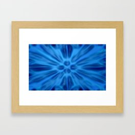 Blue plastification Framed Art Print