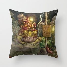 A special delivery / Un envío especial Throw Pillow