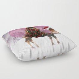 Santa Camel Floor Pillow