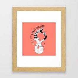 Snake singing Flashdance   Animal Karaoke   Illustration   Red Framed Art Print