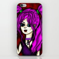 goth iPhone & iPod Skins featuring Goth Girl  by GothicToggs