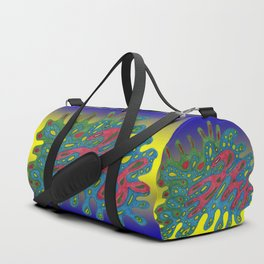 Cellular Creation. Meditative iFi Art. Stress and Pain Free with MYT3H. Beginning. Love. Duffle Bag