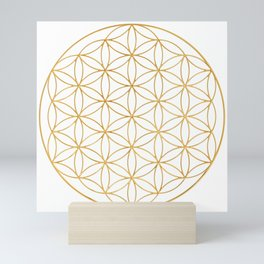 Flower Of Life, Mother Of The Tree Of Life And The Metatron's Cube Mini Art Print