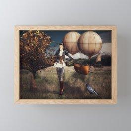 Flight of Fancy (Steampunk) Framed Mini Art Print