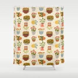 Some Flower Pots Shower Curtain