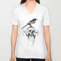 pie V-neck T-shirts featuring Pie by Mortimer Sparrow