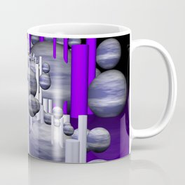 deco violet-white-black -1- Coffee Mug