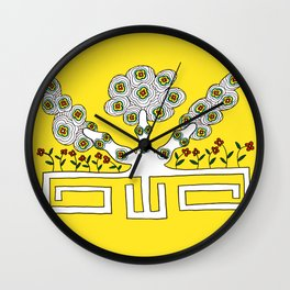 Rooted women Wall Clock