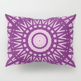 Purple Maze Pillow Sham