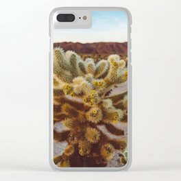 Joshua Tree Sunset Clear iPhone Case