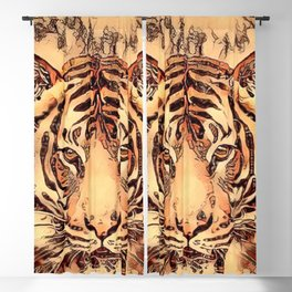 Animal ArtStudio- amazing Tiger Blackout Curtain