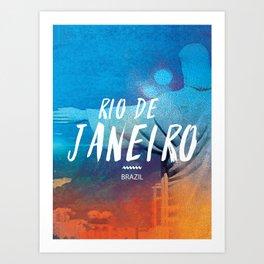 Corcovado, Rio de Janeiro, Brazil, poster Art Print