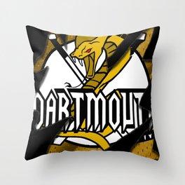 Dartmouth Cobras Torn logo Throw Pillow