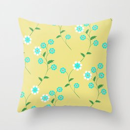Knapweed, centaury, centory flowers Throw Pillow