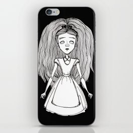 Alice (black) iPhone Skin