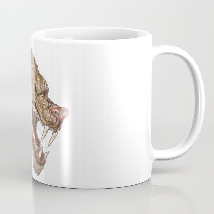 Head with sharp teeth Coffee Mug