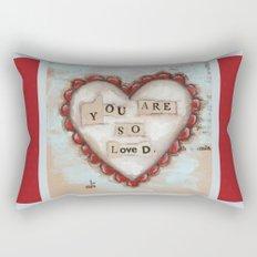 So Loved - by Diane Duda Rectangular Pillow