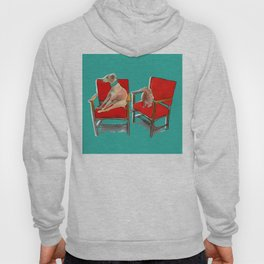 animals in chairs #14 The Greyhound and the Hare Hoody