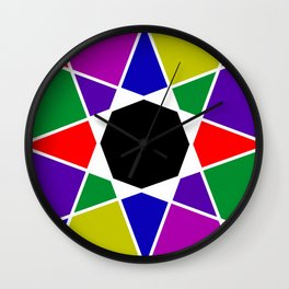 Compass abstract Wall Clock