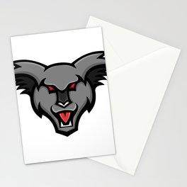 Angry Koala Head Mascot Stationery Cards