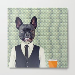 Arthur the Bartender Metal Print
