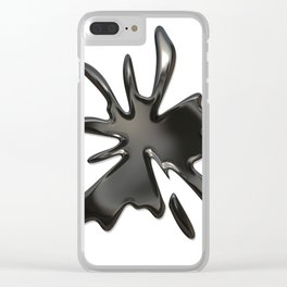 Black splash Clear iPhone Case