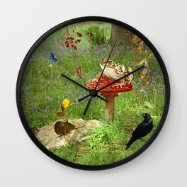 Woodland gazette Wall Clock