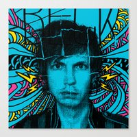 cassia beck Canvas Prints featuring Beck Hell Yes by Matt Crave