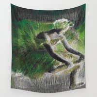 ballerina Wall Tapestries featuring BalleriNA by PureVintageLove