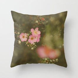 flower photography by Elina Bernpaintner Throw Pillow