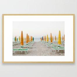 Quiet Italian Beach Framed Art Print
