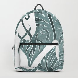 Leaf - Exotic Boho Leaf Pattern 05- Colorful, Modern, Tropical Art - Conch, Firefly, Juniper Backpack