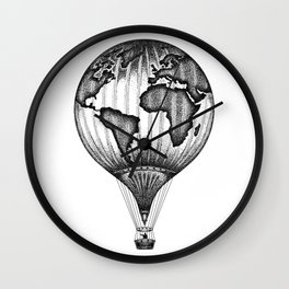 EXPLORE. THE WORLD IS YOURS. (No text) Wall Clock