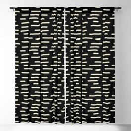 White Chalk on Black Blackout Curtain