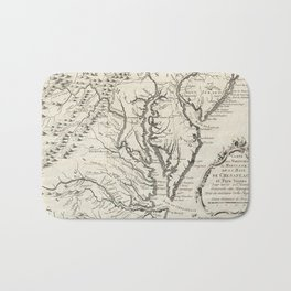 Vintage Map of The Chesapeake Bay (1780) Bath Mat