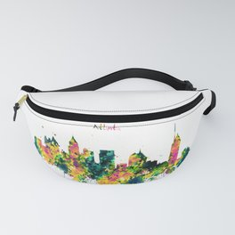 Atlanta Watercolor Skyline Fanny Pack